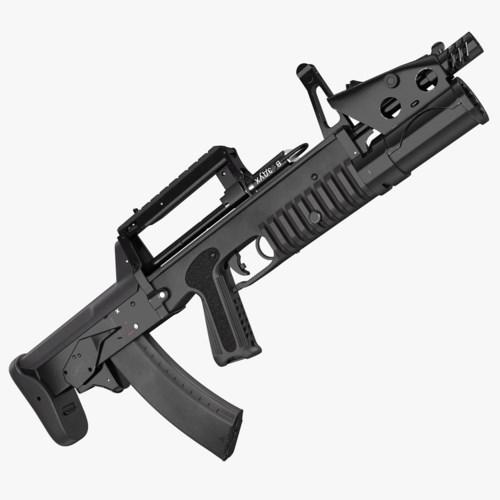 ADS có trọng lượng 4,6 kg (gồm cả ống phóng lựu); chiều dài 685 mm; sử dụng đạn 5,45 x 39 mm PSP-UD để bắn dưới nước và đạn 7N6 để bắn trên cạn. Ảnh: TurboSquid.