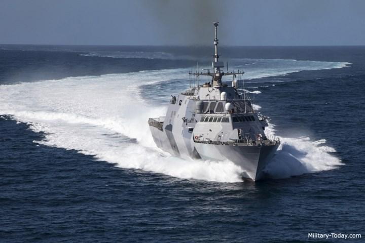 Chiến hạm lớp Freedom thuộc loại tàu tác chiến ven bờ (LCS) có khả năng tàng hình. Ảnh: Military-Today.