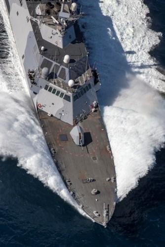 Chiến hạm lớp Freedom được các bị các loại vũ khí hiện đại bao gồm pháo hạm Mk 110 57mm với tầm bắn 14km, tốc độ bắn 220 phát/phút. Ảnh: Defense News.