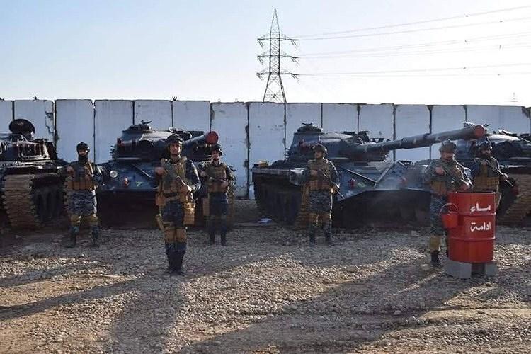 Để có thể thực hiện tốt nhiệm vụ của mình, Cảnh sát Iraq được trang bị cả xe tăng chiến đấu chủ lực T-72 khá hiện đại, đây là phương tiện mơ ước đối với nhiều quân đội chính quy.