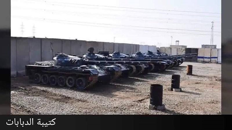 Các xe tăng chiến đấu chủ lực T-72, pháo phòng không tự hành ZSU-23-4, xe chiến đấu bộ binh BMP-1 và xe thiết giáp chở quân M113 khiến Cảnh sát Iraq trở thành lực lượng có hỏa lực mạnh nhất thế giới hiện nay.