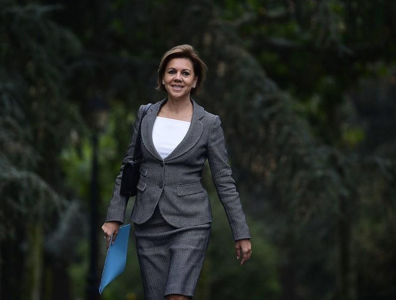 Bà Maria Dolores de Cospedal giữ cương vị Bộ trưởng Quốc phòng Tây Ban Nha từ năm 2016-2018.