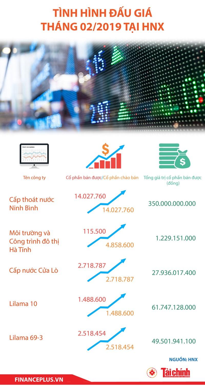 [Infographic] Tình hình đấu giá tháng 02/2019 tại HNX - Ảnh 1