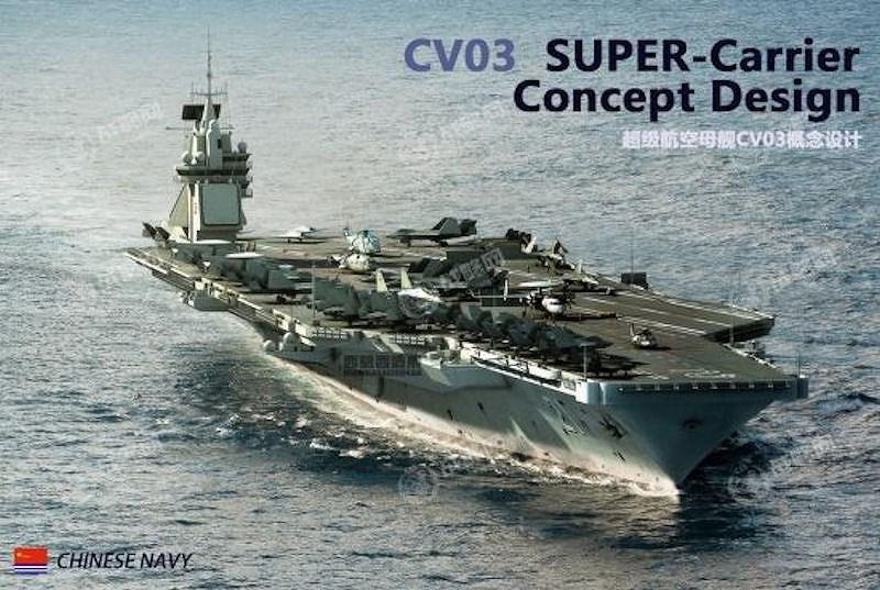 """Ngoài ra tàu sân bay mới sẽ cho phép mang theo máy bay cảnh báo sớm trên hạm KJ-600 có thiết kế và chức năng tương tự như E-2 Hawkeye của Mỹ, khiến cho biên đội tác chiến của Hải quân Trung Quốc không còn """"vùng mù"""" khi hoạt động xa căn cứ."""