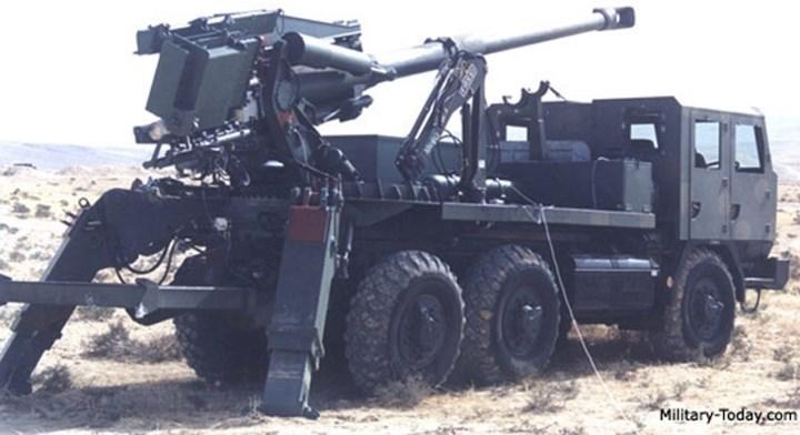 Pháo bắn được tất cả các loại đạn 155 mm tiêu chuẩn NATO Ảnh: Military-Today.