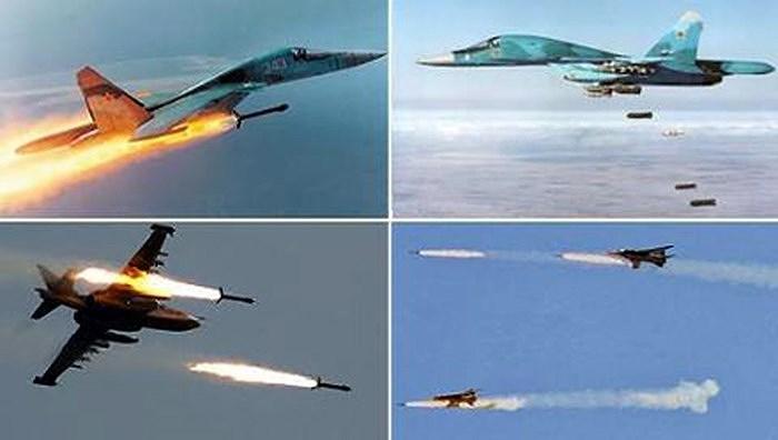 Mục tiêu của máy bay chiến đấu Nga chính là căn cứ liên lạc của tổ chức Hay'at Tahrir Al-Sham, địa điểm này được báo cáo đã bị phá hủy hoàn toàn sau khi kết thúc trận không kích trên.