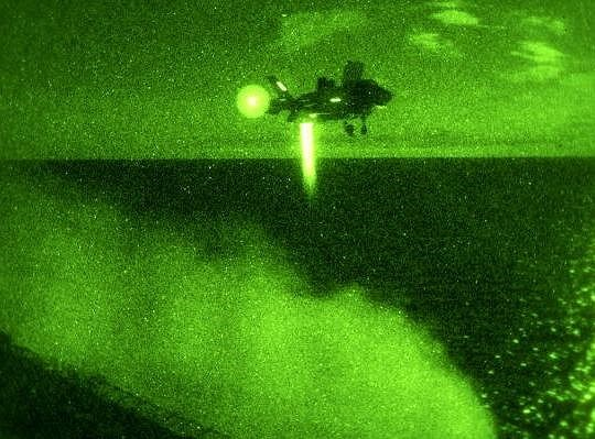 F-35B thực hiện nhiệm vụ bay đêm trên biển.