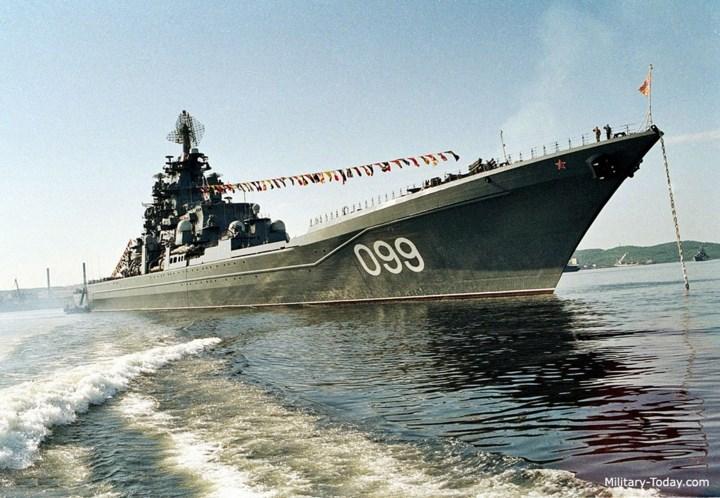 Mục đích của quân đội Liên Xô trước đây khi phát triển lớp tàu Kirov là để đối phó với các tàu sân bay của Mỹ. Ảnh: Military-Today.