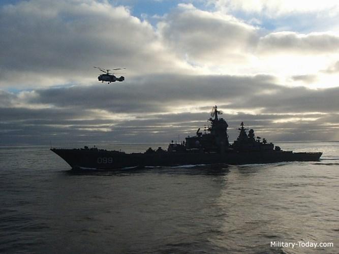 Theo kế hoạch, có 5 chiếc tàu tuần dương lớp Kirov được đóng nhưng việc Liên Xô tan rã khiến kế hoạch có sự thay đổi và chỉ có 4 chiếc được hạ thủy. Ảnh: Military-Today.