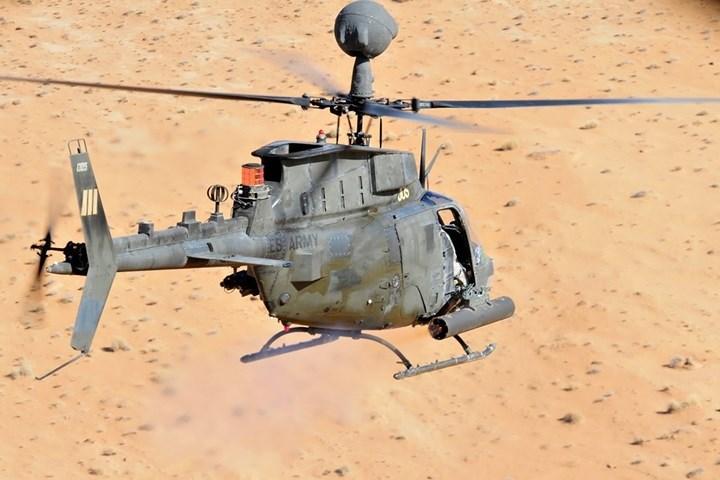OH-58D có độ cơ động cực cao. Máy bay có thể ẩn nấp sau rặng cây hoặc ngọn đồi khi quan sát chiến trường.