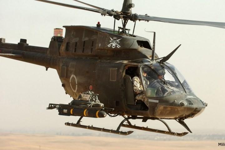 Trực thăng có 2 mấu cứng để gắn vũ khí.