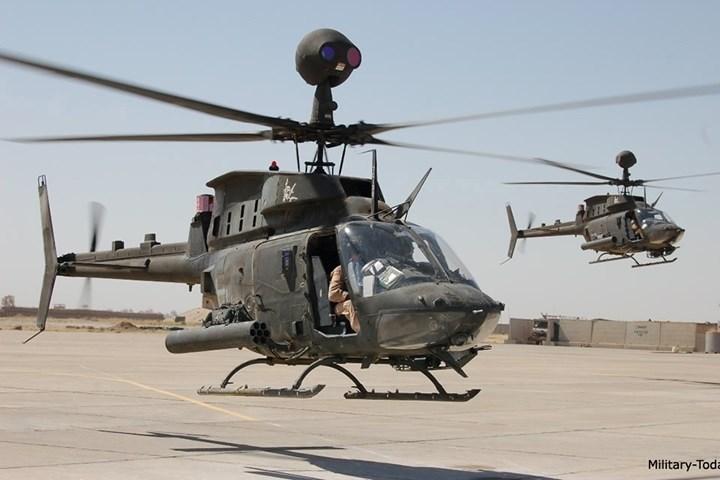 OH-58D có thể trang bị súng máy 12,7mm, tên lửa chống tăng Hellfire, và cả tên lửa không đối không Stinger.