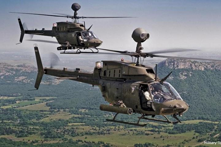 OH-58D là bước phát triển thêm của phiên bản OH-58 Kiowa trước đó. OH-58D là kết quả của chương trình cải tiến trực thăng lục quân Mỹ.
