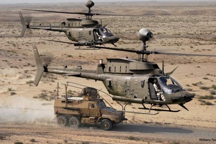 Từ năm 1987, 15 chiếc OH-58D của Mỹ đã được chỉnh sửa để đối phó với tàu tuần tra nhanh của Iran ở vịnh Persian.