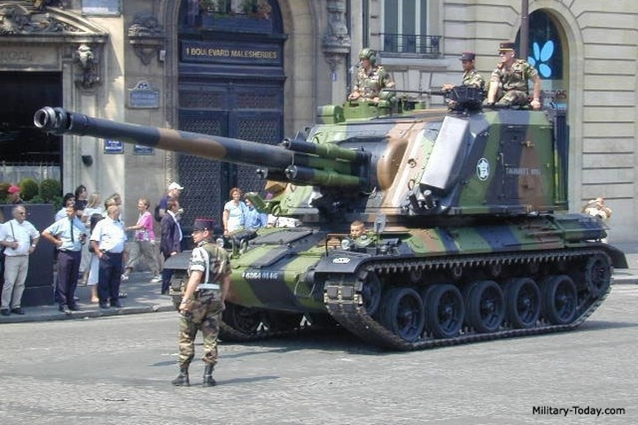 Tổng cộng 250 cỗ pháo loại này đã được chế tạo cho lục quân Pháp.