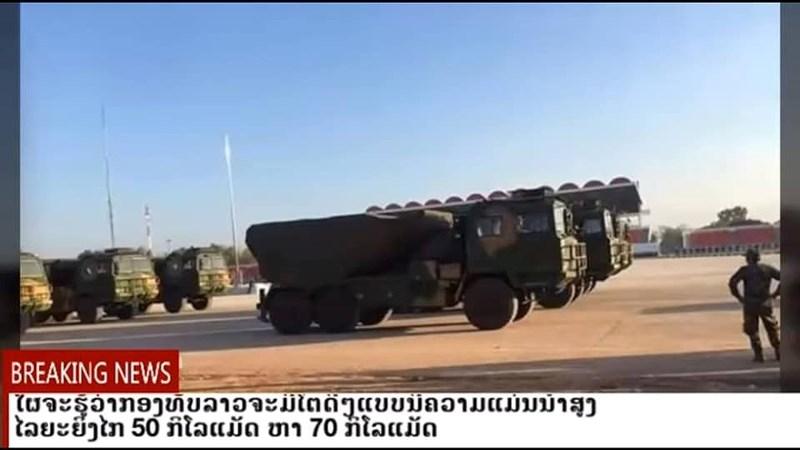Xung quanh những sự kiện liên quan đến lễ diễu binh chào mừng 70 năm ngày thành lập Quân đội nhân dân Lào diễn ra vào đầu năm sau, bạn đã cho công khai rất nhiều vũ khí hiện đại như xe tăng T-72B1 Đại bàng trắng, máy bay huấn luyện Yak-130, tổ hợp phòng không tầm thấp Tianlong-6...