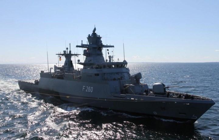 """""""Trái tim"""" của K-130 là radar TRS-3D có khả năng tự động phát hiện và theo dõi của tất cả các mối đe dọa trên không và trên mặt biển, bao gồm phát hiện sớm các phương tiện bay thấp hoặc mối đe dọa chuyển động nhanh như tên lửa, tàu thuyền cao tốc, UAV và máy bay. Ảnh: Naval Today."""