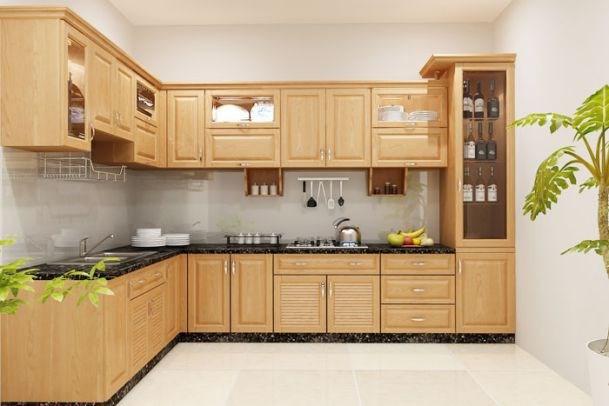 Không quá màu mè và chi tiết, chiếc tủ bếp này sẽ là lựa chọn lý tưởng đảm bảo tối đa công năng sử dụng cho cả gia đình.