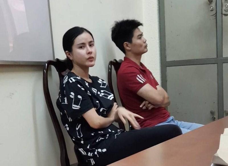 Hot girl Trần Thị Hồng Trinh và Lê Hữu Long, 2 đối tượng trong hệ thống đánh bạc hàng ngàn tỷ đồng.