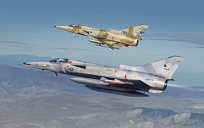 Tính năng ưu việt của tiêm kích Mỹ là không có gì phải bàn cãi, tuy nhiên cần lưu ý rằng trong tay Không quân Israel vẫn còn một loại chiến đấu cơ nội địa có đặc tính kỹ chiến thuật không thua kém, đó chính là Kfir.