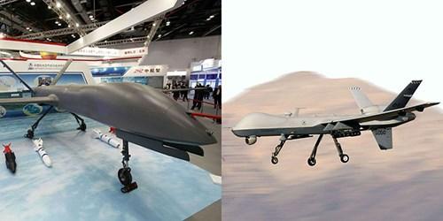 UAV CH-4 của Trung Quốc (trái) được cho là sao chép từ MQ-9 của Mỹ. Ảnh: Popular Mechanics.