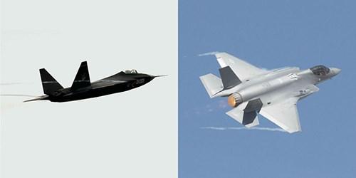 Thiết kế của J-31 (trái) có nhiều nét tương đồng với F-35 (phải). Ảnh: Popular Mechanics.