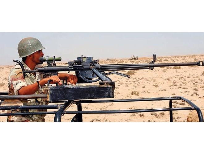 Hình ảnh súng máy W85 xuất hiện trên chiến trường Trung Đông.